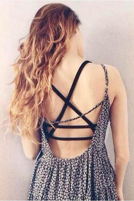 Sexy Women's Strap Tanks Summer Padded Bra Cross Strap Tank Tops Spaghetti Strap Vest Tops Bustier Camisole
