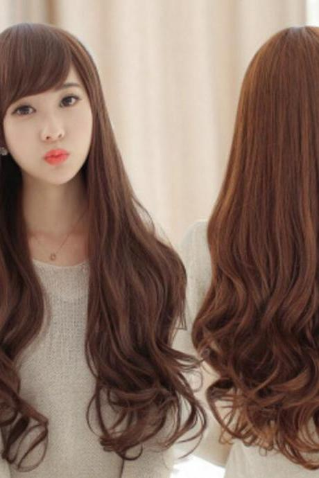 Womens wig Long Curly Wavy Wigs Fashion Cosplay Girls Hair Full Wig Synthetic wig