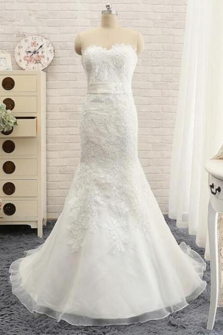 Lace Mermaid Wedding Dresses 2016 Fashion Sweetheart Off The Shoulder Lace Up Back Bridal gown Plus Size