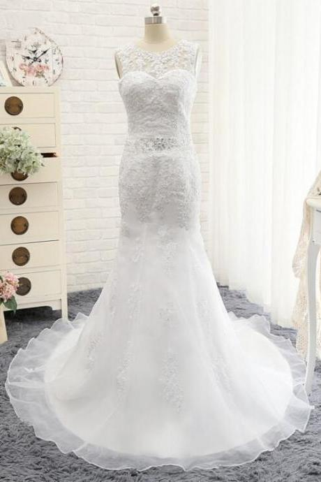 2016 New Elegant Lace Mermaid Wedding Dresses Beading Backless Cap Sleeves Bridal dress High Quality Prom dress custom made