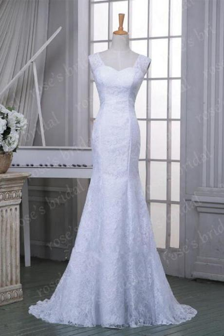 Fashion Off Shoulder Backless Mermaid white Lace Wedding Dress 2016 Elegant Gorgeous Wedding Gowns