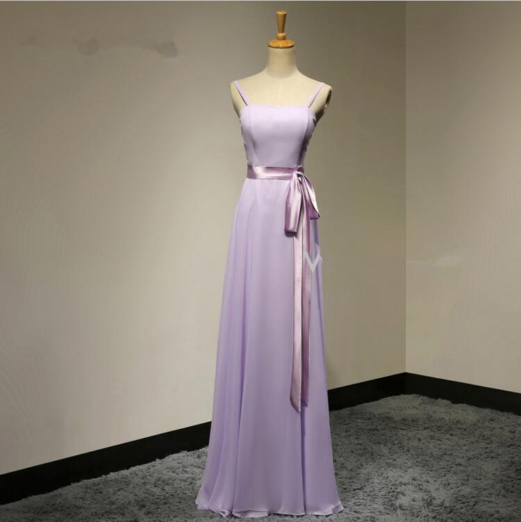 Beach Wedding Dresses In Purple : Elegant a line chiffon spaghetti straps purple evening